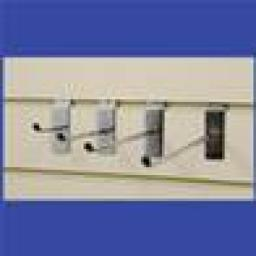 """NEW SLATWALL 10"""" HOOKS RETAIL SHOP FITTING DISPLAY x25"""