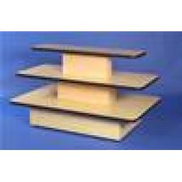 3 TIER RECTANGLE RETAIL DISPLAY TABLE
