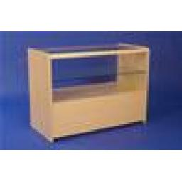 GLASS MAPLE SHOWCASE COUNTER DISPLAY 1200MM RETAIL SHOP FITTING