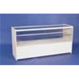 GLASS WHITE SHOWCASE COUNTER 1800MM RETAIL SHOP FITTING