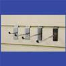 """NEW SLATWALL 1"""" HOOKS RETAIL SHOP FITTING DISPLAY x 25"""