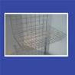 GRIDWALL MESH BASKET RETAIL DISPLAY SHOP FITTINGS X4