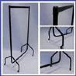 6ft GARMENT CLOTHES BLACK DISPLAY HEAVY DUTY RAIL RETAIL SHOP FITTING (5ft 4ins High)