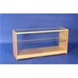 GLASS MAPLE DISPLAY COUNTER 1800MM RETAIL SHOP FITTINGS