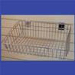 SLATWALL MULTIFIT SHALLOW BASKET RETAIL SHOP DISPLAY X6
