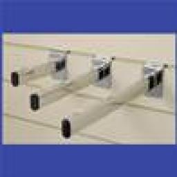 SLATWALL BRACKETS GLASS SHELF 300mm SHOP FITTINGS X50