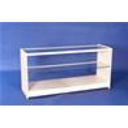 GLASS WHITE DISPLAY SHOWCASE SHOP COUNTER 1800MM RETAIL SHOP FITTING