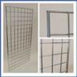 8ft GRIDWALL PANEL MESH RETAIL DISPLAY SHOP FITTINGS X2
