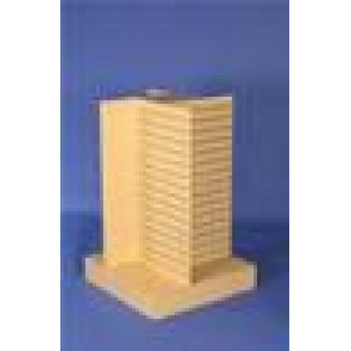 SLATWALL 4-WAY SHOP DISPLAY UNIT RETAIL FITTINGS MAPLE