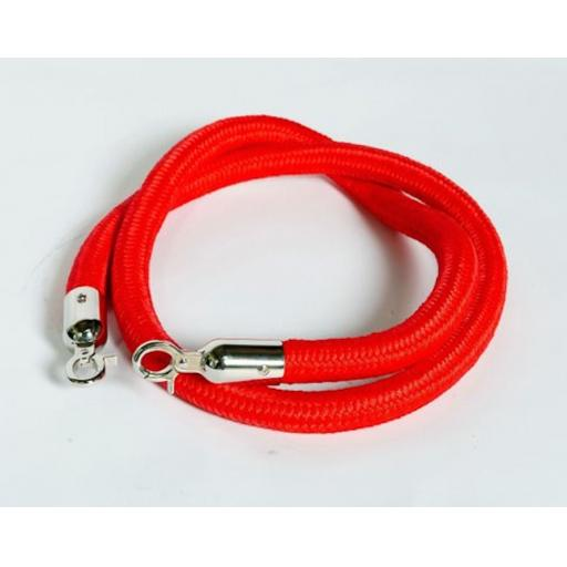 "SAFETY SECURITY CROWD CONTROL BARRIER ROPE RED 1500mm (59"")"