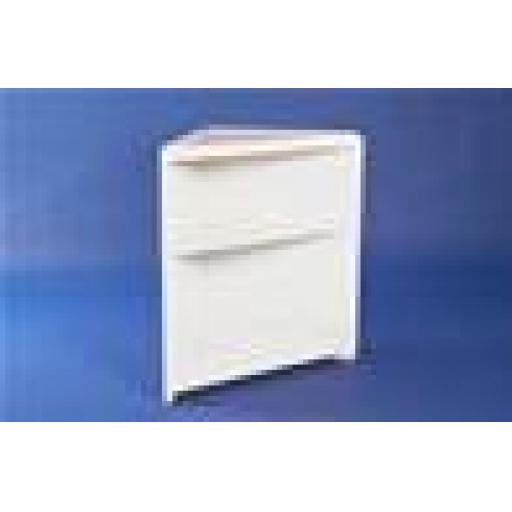OPEN FACED CORNER TRIANGLE WHITE COUNTER RETAIL SHOP