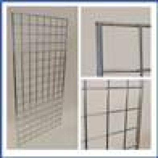 8ft GRIDWALL PANEL MESH RETAIL DISPLAY SHOP FITTINGS X3
