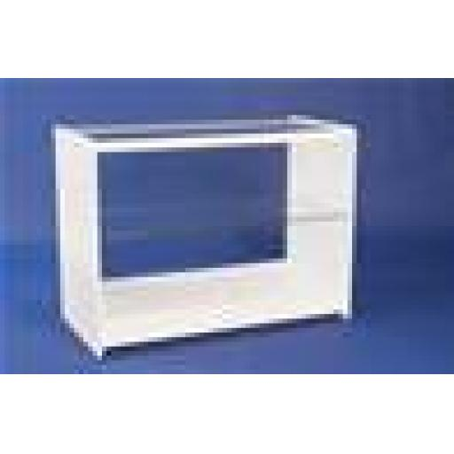 GLASS WHITE DISPLAY SHOWCASE COUNTER 1200MM RETAIL SHOP FITTING