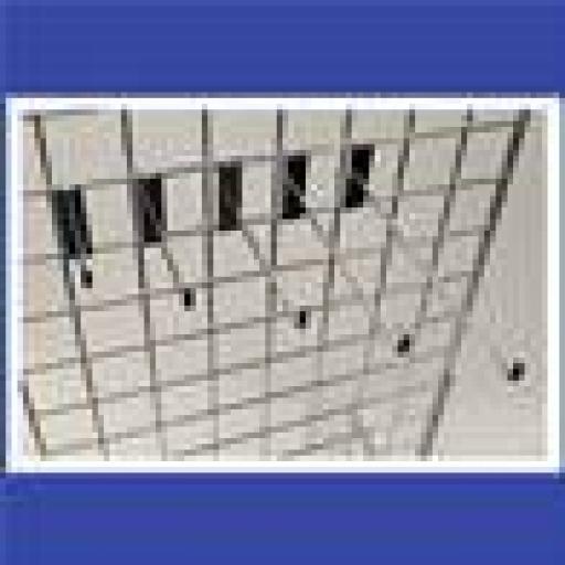 10ヤ GRIDWALL HOOKS RETAIL DISPLAY SHOP FITTINGS x25