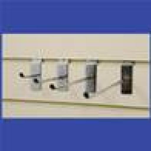 """NEW SLATWALL 8"""" HOOKS RETAIL SHOP FITTING DISPLAY X100"""