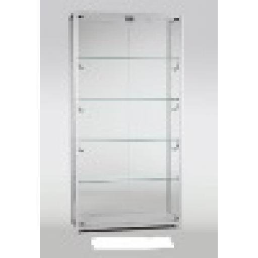 GLASS LOCKABLE TOWER SHOWCASE 800MM X 400MM DISPLAY ALUMINIUM FRAME RETAIL SHOP FITTINGS
