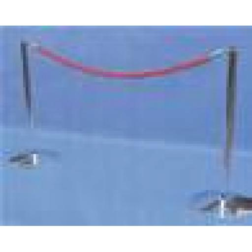 4X SAFETY CROWD CONTROL BARRIER POSTS, PLUS 3 ROPES NEW