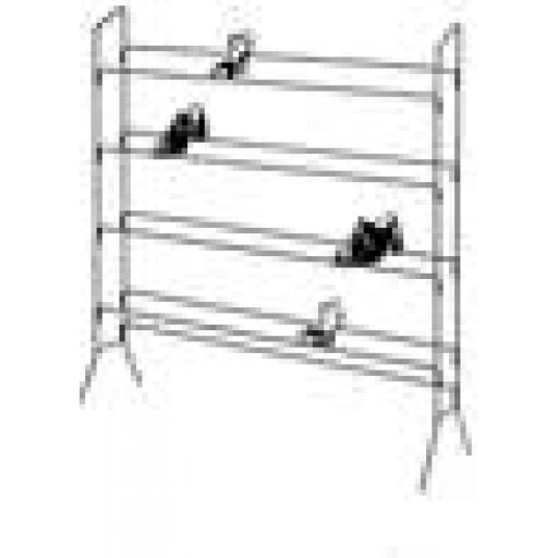 BLACK SHOE RACK SHOP FITTING RETAIL DISPLAY 4 FT VALUE