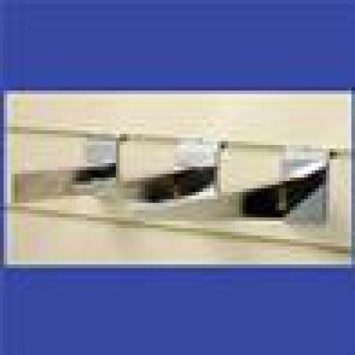 SLATWALL BRACKETS WOOD SHELF 200mm SHOP FITTINGS X50