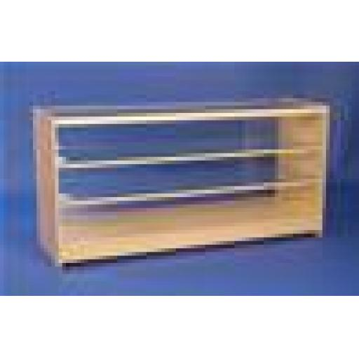 GLASS MAPLE SHOWCASE COUNTER 2 SHELF 1800 SHOP FITTING