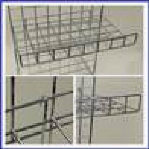 GRIDWALL FLAT SHELF LIP RETAIL DISPLAY SHOP FITTINGS X4