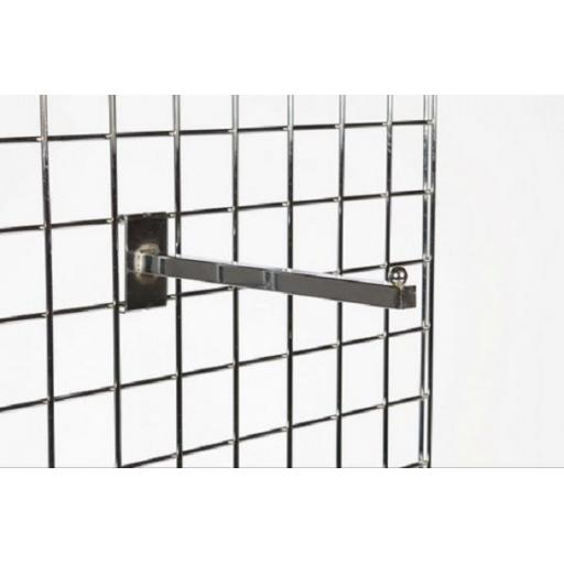 GRIDWALL 12'' STRAIGHT ARM RETAIL DISPLAY FITTINGS X25
