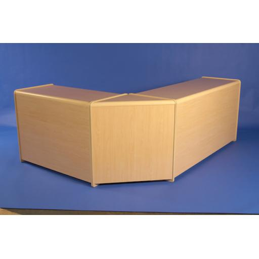 L SHAPED MAPLE COUNTER DISPLAY UNIT RETAIL CASH TILL SHOP FITTINGS