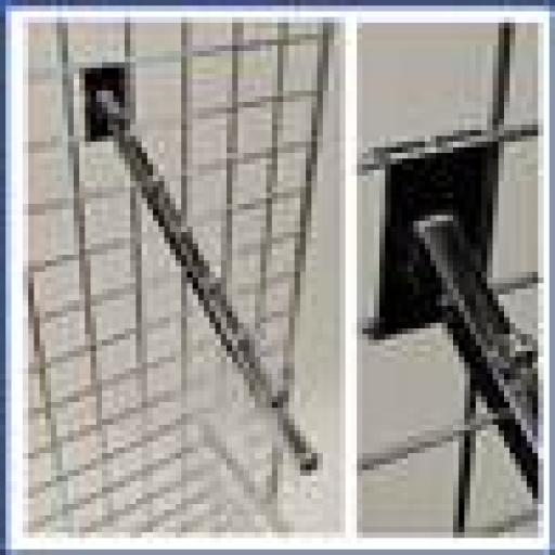 GRIDWALL SEVEN BALL SLOPE ARM RETAIL DISPLAY SHOP FITTING X 13