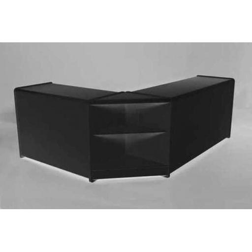 L SHAPED BLACK COUNTER DISPLAY UNIT RETAIL CASH TILL SHOP FITTINGS