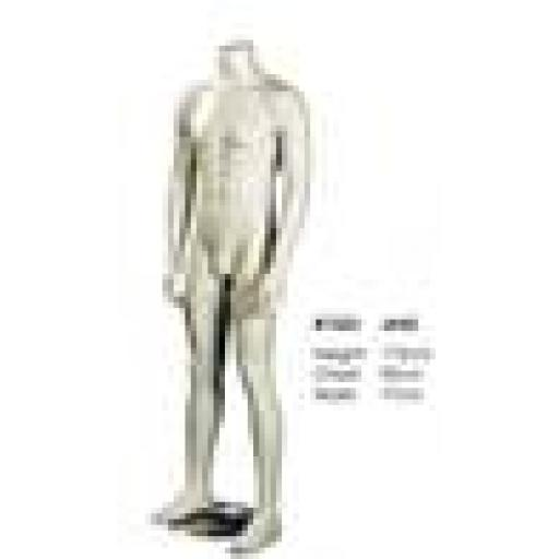 NEW MALE HEADLESS MANNEQUIN JAKE SHOP DISPLAY WHITE