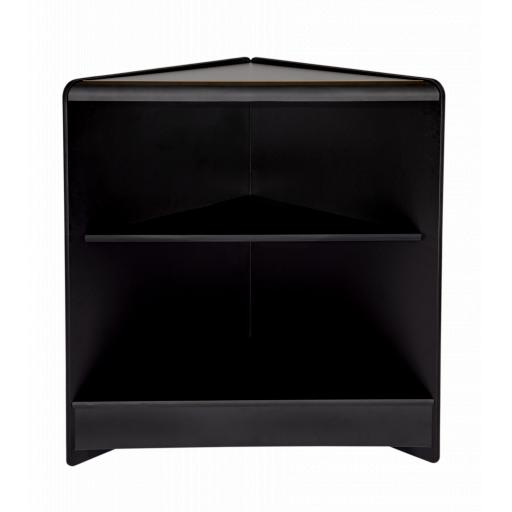 OPEN FACED BLACK CORNER TRIANGLE COUNTER RETAIL SHOP