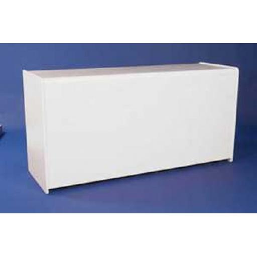 WHITE SHOP DISPLAY COUNTER UNIT 1800mm RETAIL FITTINGS