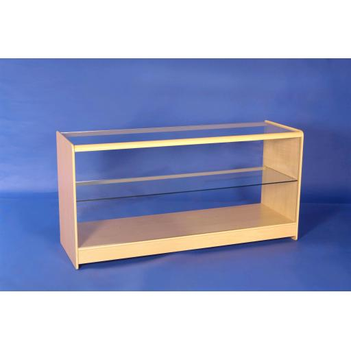 GLASS MAPLE SHOWCASE COUNTER 1800MM RETAIL SHOP FITTING